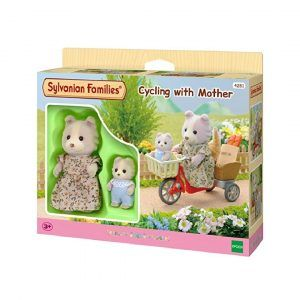 Cycling with Mother Sylvanian Families