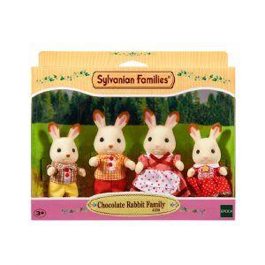 Familia Conejo Chocolate Sylvanian Families