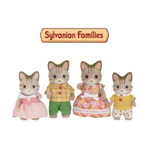 Familia Gatos con Rayas Sylvanian Families