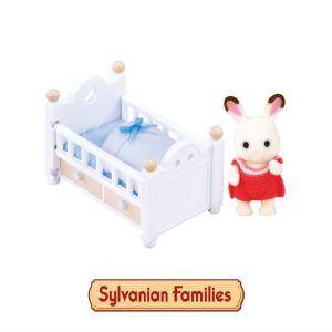 Chocolate Rabbit Baby Set Sylvanian Families