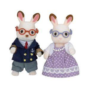 Sylvanian Families Chocolate Rabbit Grandparents
