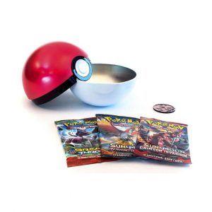 Pokebola Metálica + 3 sobres Pokémon