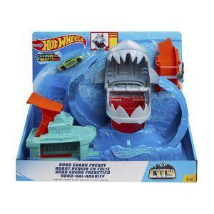 Pista Hot Wheels Robo Tiburón