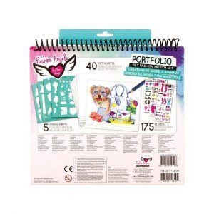 Set Portafolio Dibujo y Stickers - Pet Lovers