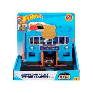 Pista Hot Wheels Estación de Policía de la Ciudad