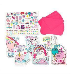 Estuche 50 + Stickers Llama