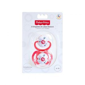 FIsher Price Pack 2 Chupetes Látex Natural - 6 a 18 meses