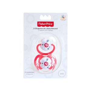 Fisher Price Pack 2 Chupetes Látex Natural